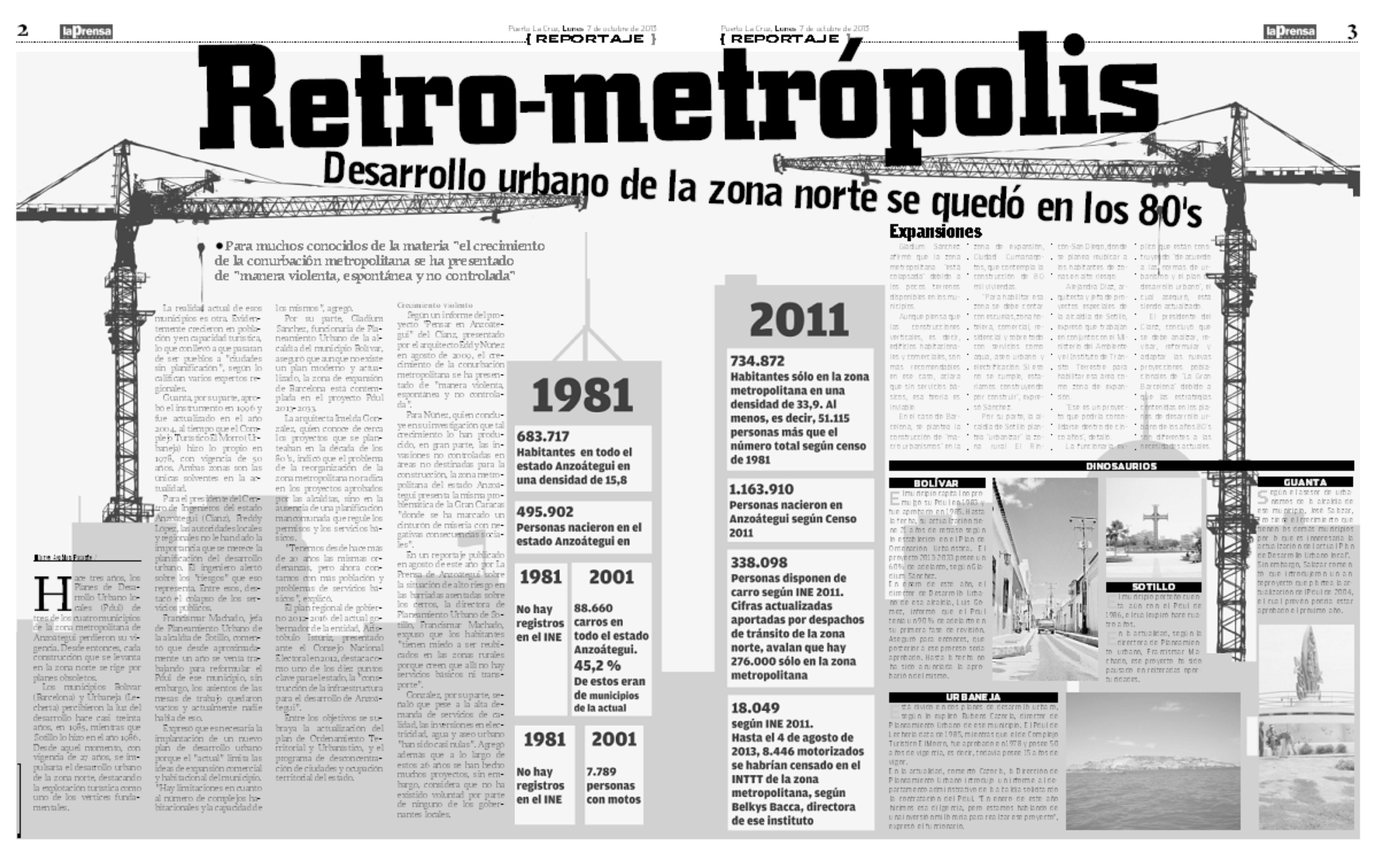 Retrometrópolis (Reportaje La Prensa de Anzoátegui: 17-10-2013